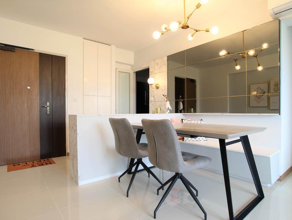 Contemporary, HDB, Dining Room, Bukit Batok, Interior Designer, Intrigue-d Design Consultancy