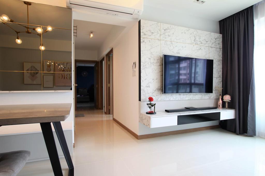 Contemporary, HDB, Living Room, Bukit Batok, Interior Designer, Intrigue-d Design Consultancy