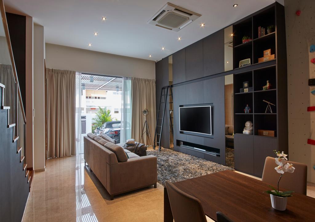 Contemporary, Landed, Living Room, Koon Seng Road, Interior Designer, Elements ID