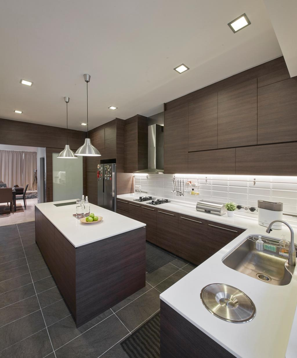 Contemporary, Landed, Kitchen, Koon Seng Road, Interior Designer, Elements ID