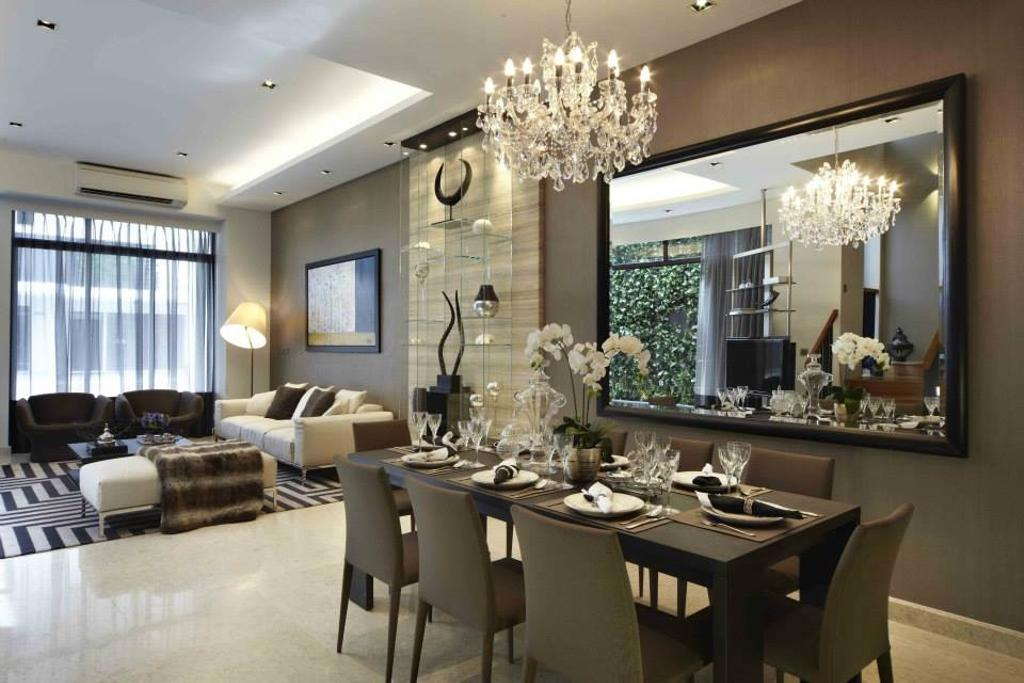 Contemporary, Landed, Dining Room, Luxus Hill, Interior Designer, Elements ID