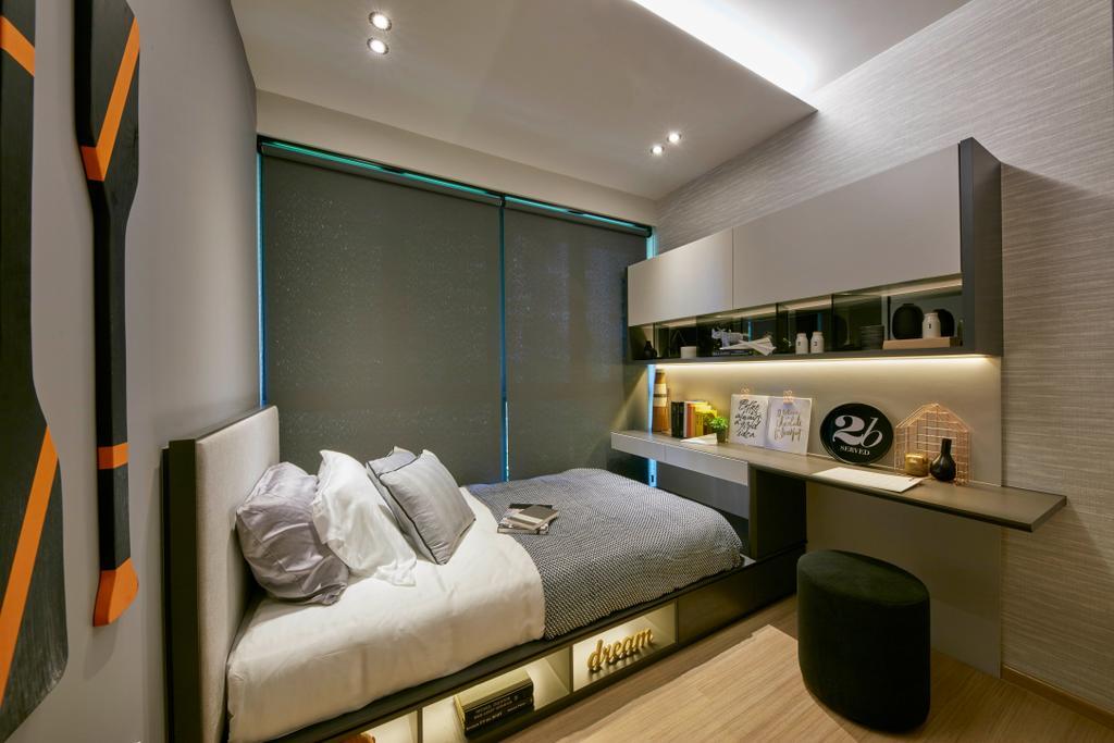 Contemporary, Condo, Bedroom, Parc Life, Interior Designer, Elements ID