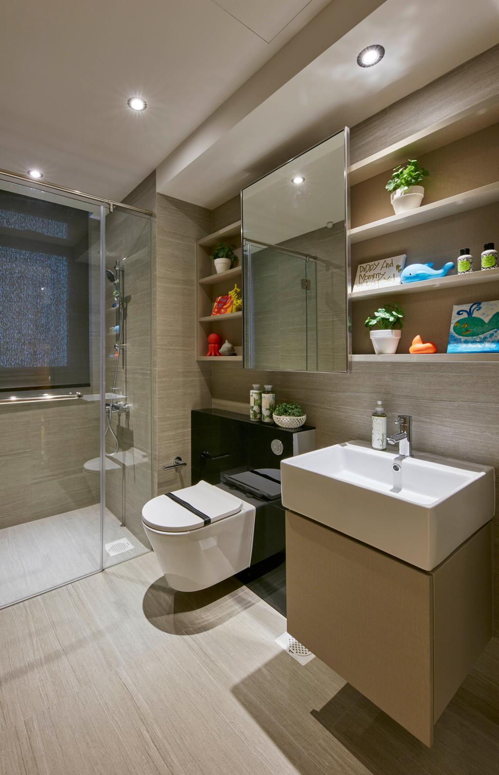 Contemporary, Condo, Bathroom, Parc Life, Interior Designer, Elements ID