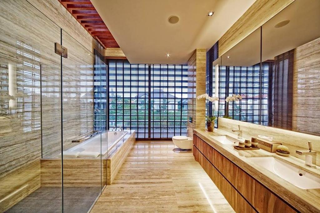 Contemporary, Landed, Bathroom, Wimborne Road, Interior Designer, Elements ID, Bathtub, Bath Tub