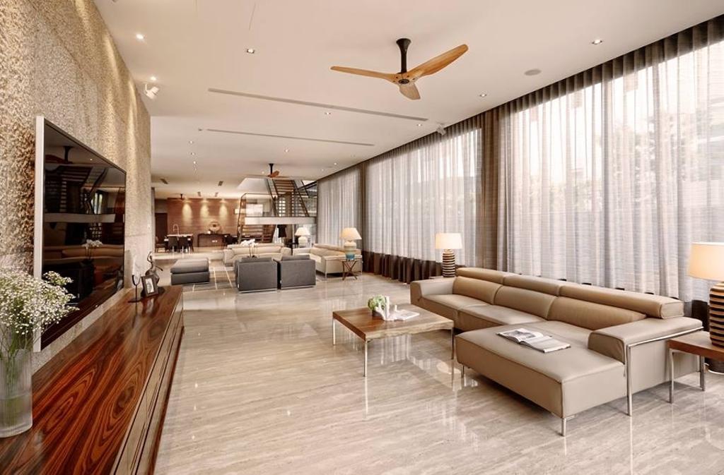 Contemporary, Landed, Living Room, Wimborne Road, Interior Designer, Elements ID