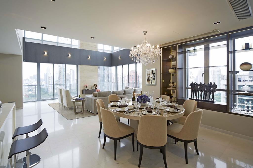Contemporary, Condo, Dining Room, Paterson Suite, Interior Designer, Elements ID