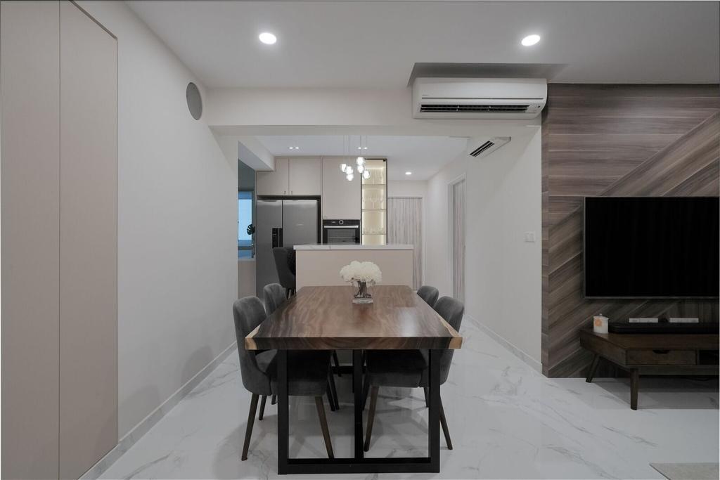 Contemporary, HDB, Dining Room, Bukit Batok Avenue 8, Interior Designer, Charlotte's Carpentry
