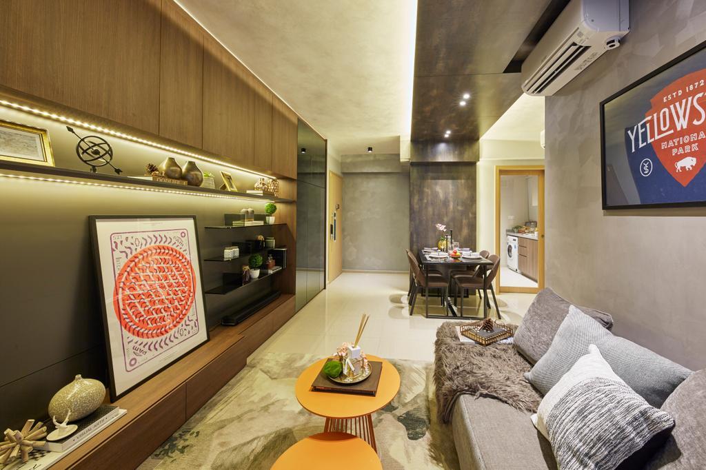 Contemporary, Condo, Living Room, Parc Life, Interior Designer, Elements ID