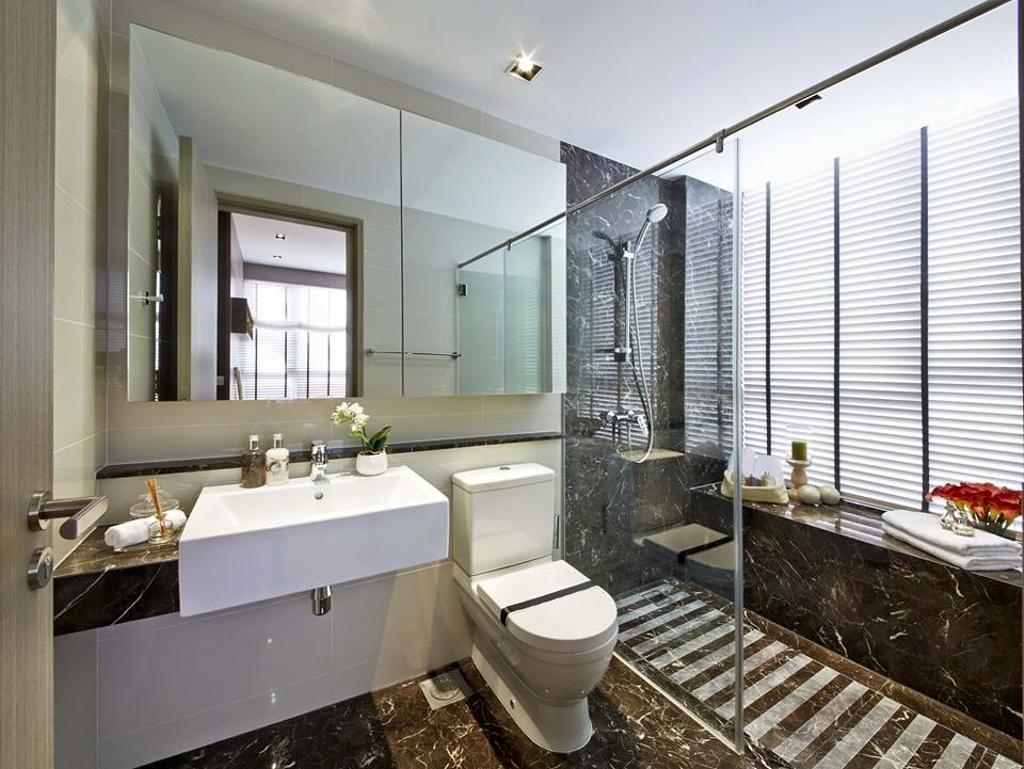 Contemporary, Condo, Bathroom, Flamingo Valley, Interior Designer, Elements ID