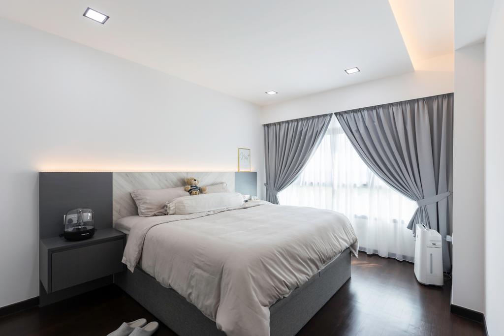 Contemporary, HDB, Bedroom, Edgedale Plains, Interior Designer, Space Atelier