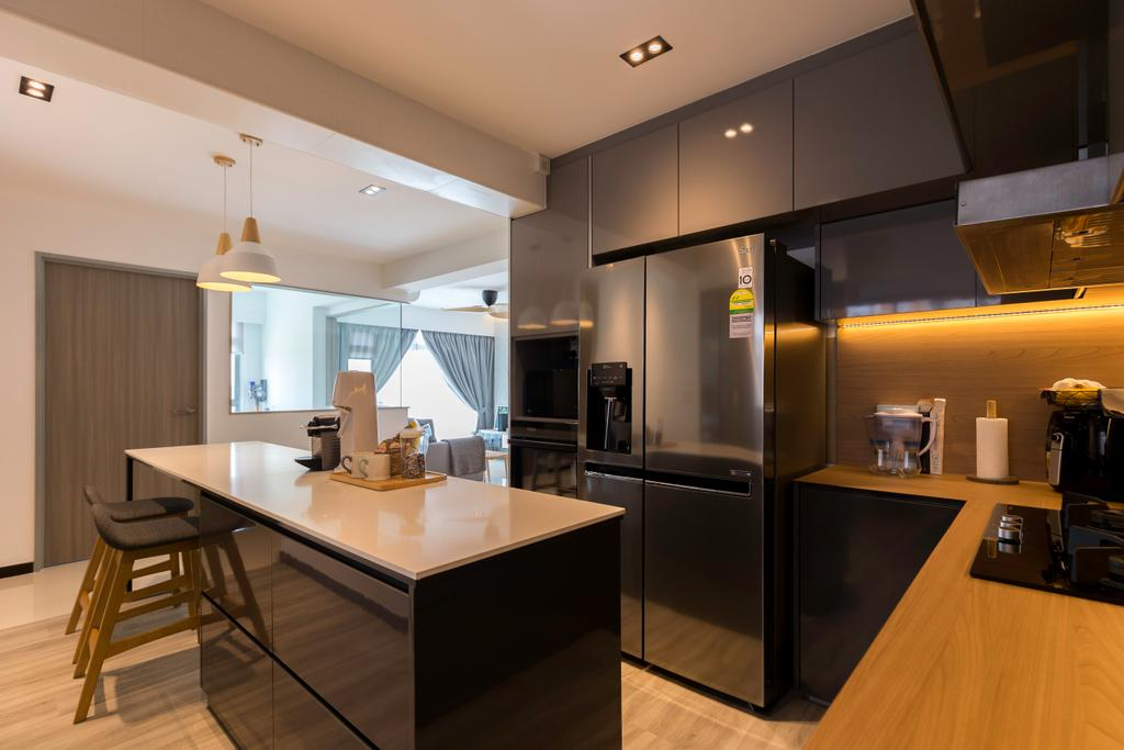 Contemporary, HDB, Kitchen, Edgedale Plains, Interior Designer, Space Atelier