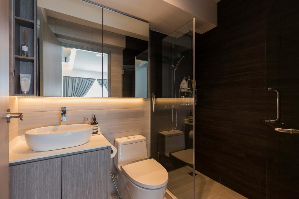 Contemporary, HDB, Bathroom, Edgedale Plains, Interior Designer, Space Atelier