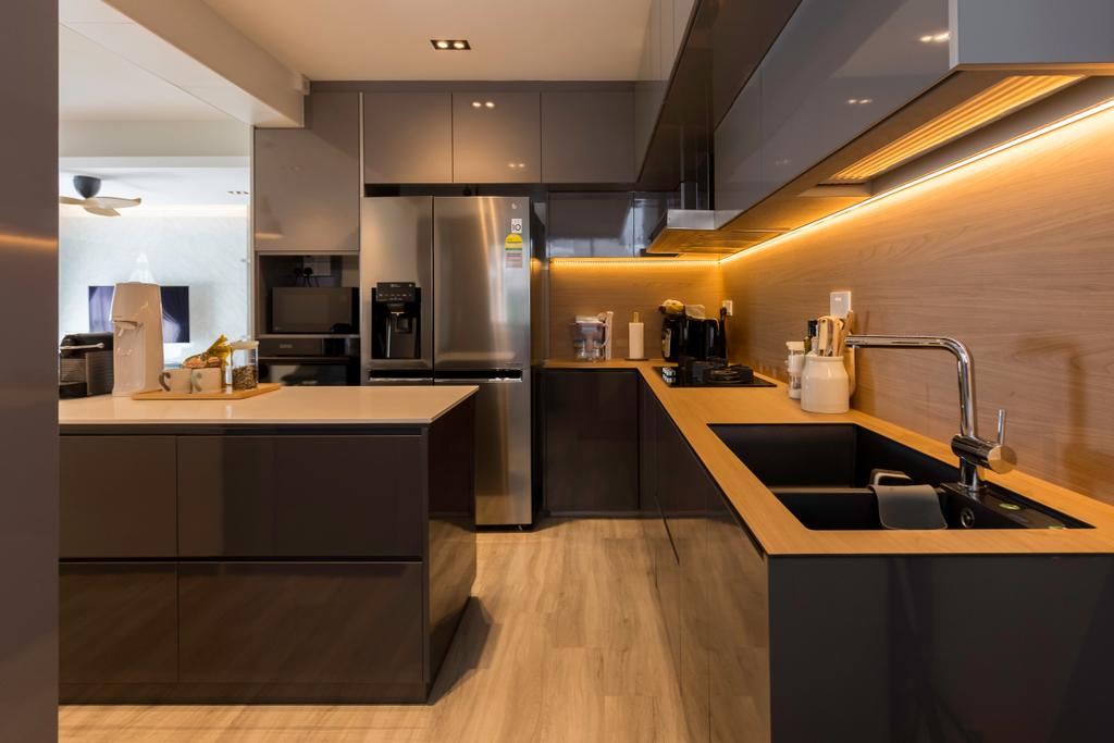 Contemporary, HDB, Kitchen, Edgedale Plains, Interior Designer, Space Atelier