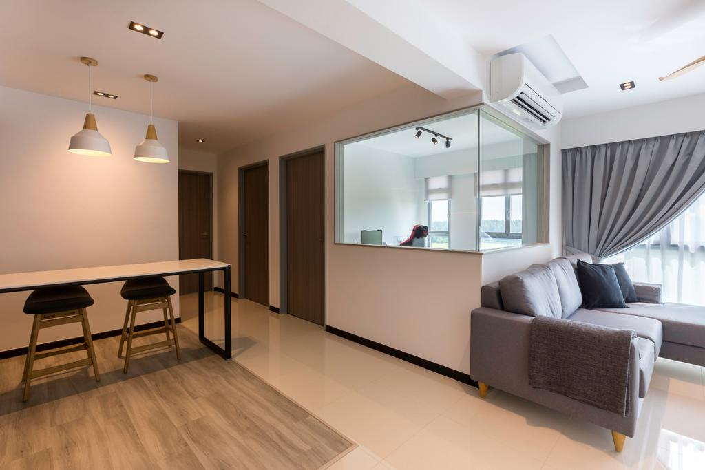 Contemporary, HDB, Living Room, Edgedale Plains, Interior Designer, Space Atelier