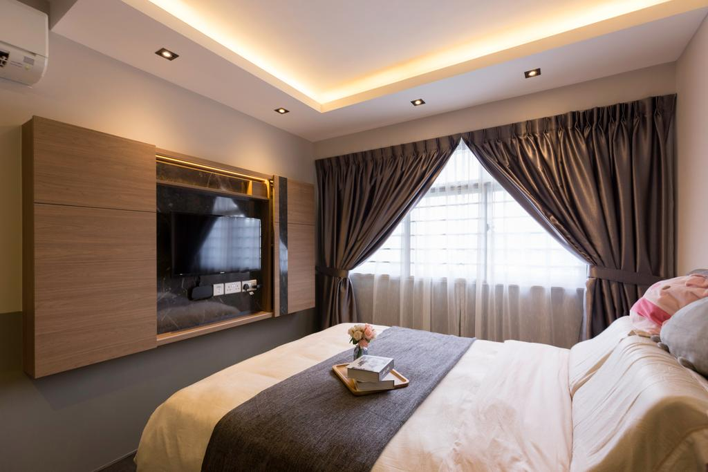 Contemporary, HDB, Bedroom, Sumang Lane, Interior Designer, Aestherior, Modern