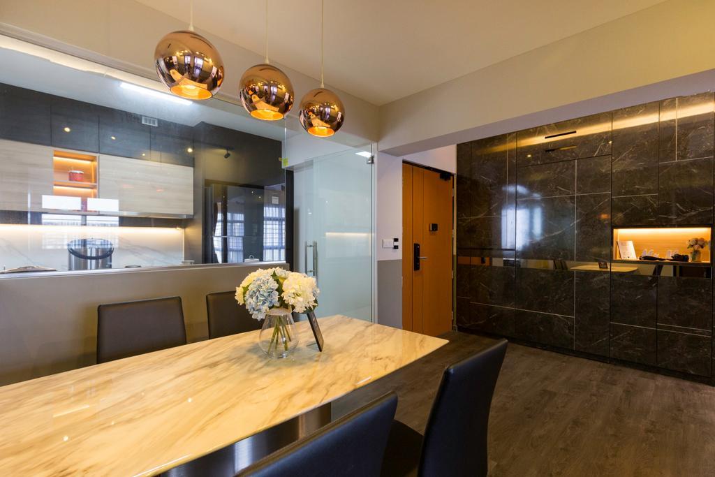 Contemporary, HDB, Dining Room, Sumang Lane, Interior Designer, Aestherior, Modern