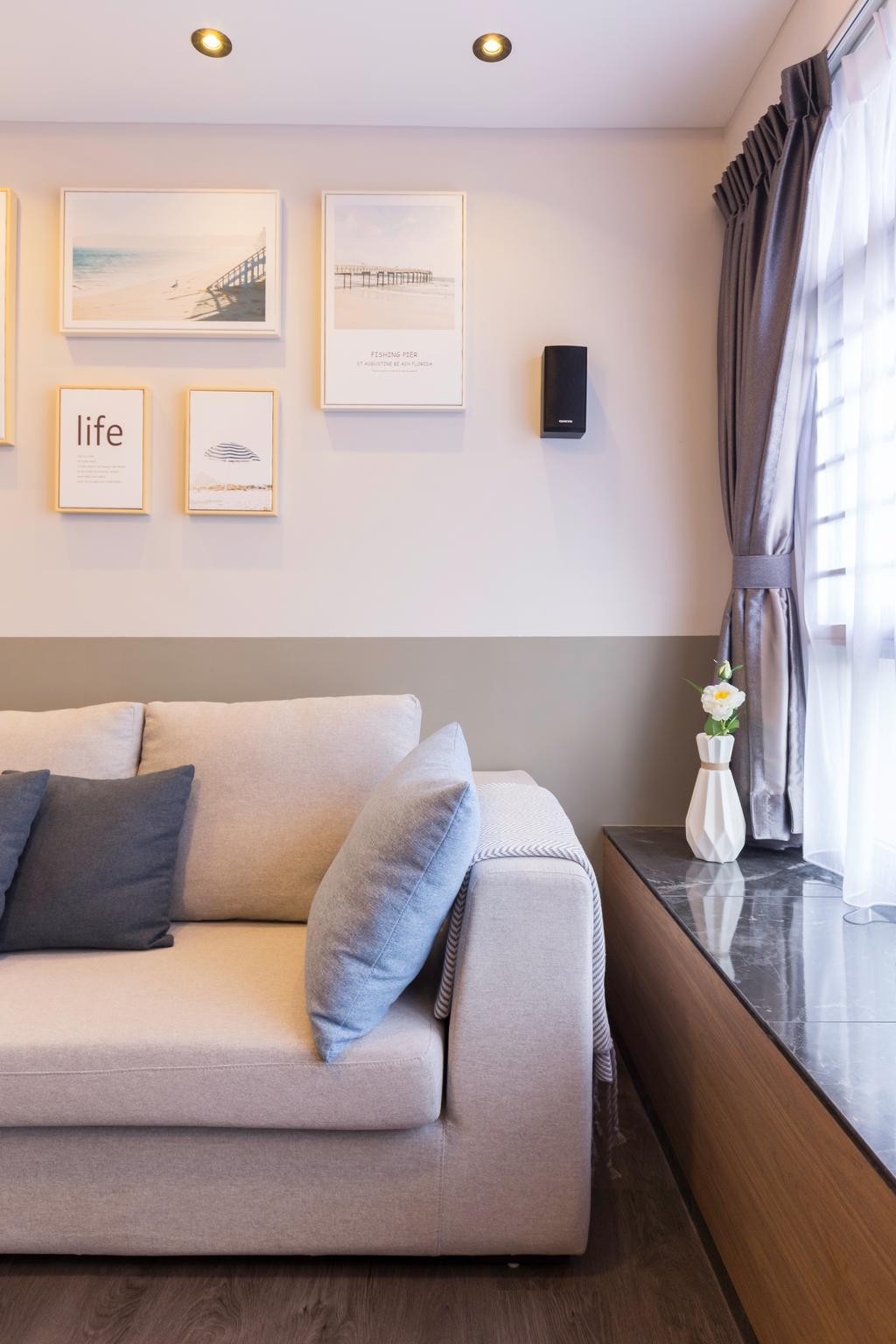 Contemporary, HDB, Living Room, Sumang Lane, Interior Designer, Aestherior, Modern