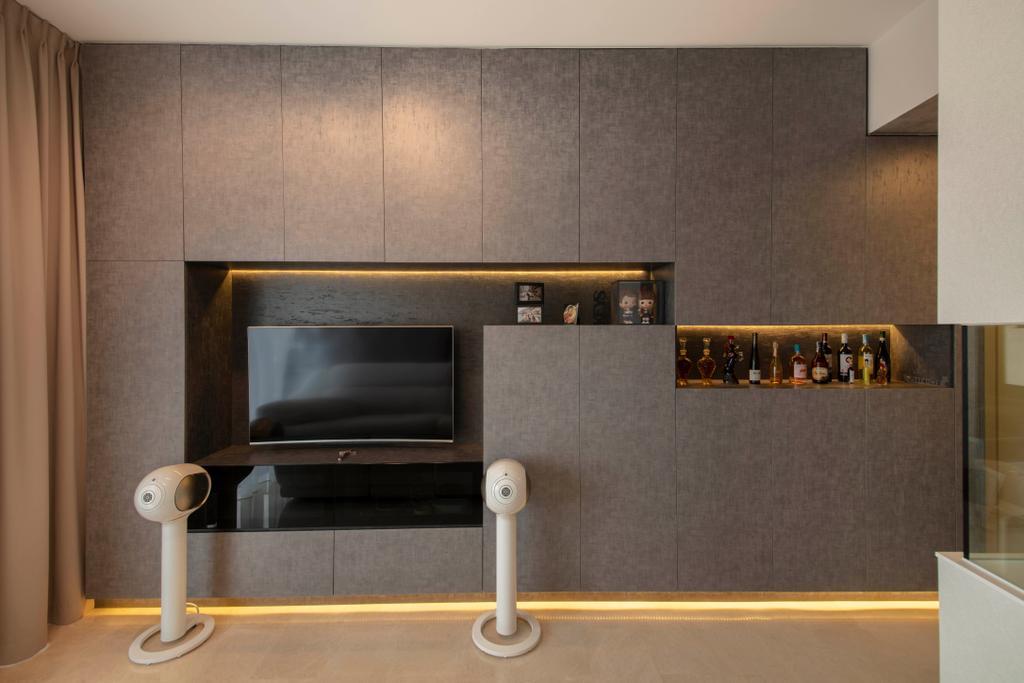 Contemporary, Condo, Living Room, Alex Residences, Interior Designer, Starry Homestead