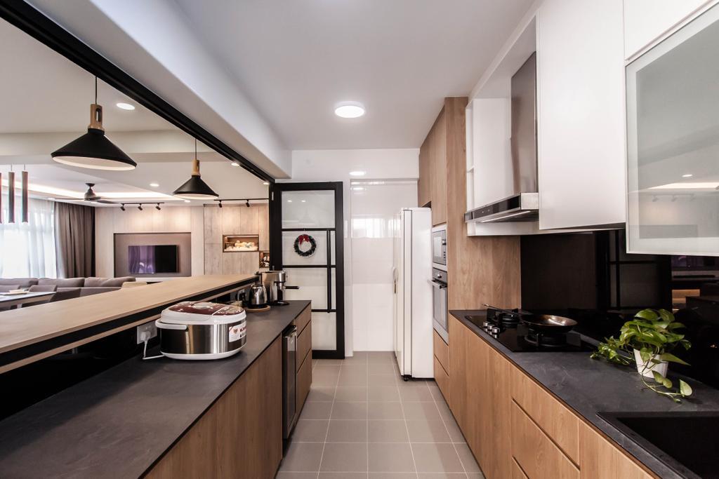 Contemporary, HDB, Kitchen, Yishun Avenue 4 (Block 673B), Interior Designer, Space Atelier