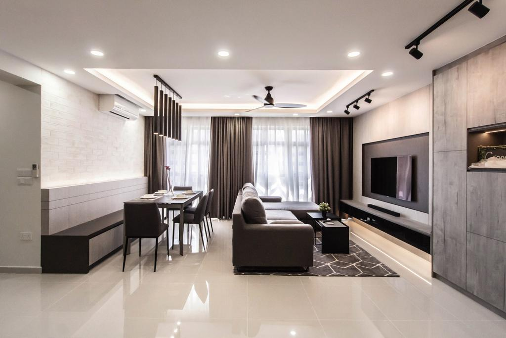 Contemporary, HDB, Living Room, Yishun Avenue 4 (Block 673B), Interior Designer, Space Atelier