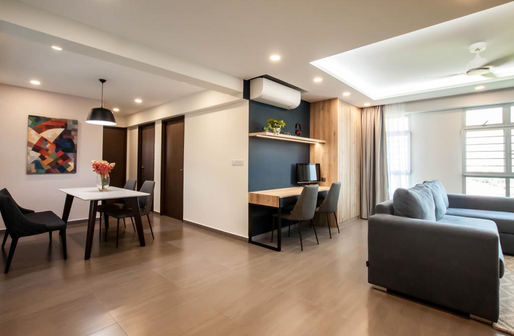 Contemporary, HDB, Living Room, Yishun Ring Road, Interior Designer, Space Atelier