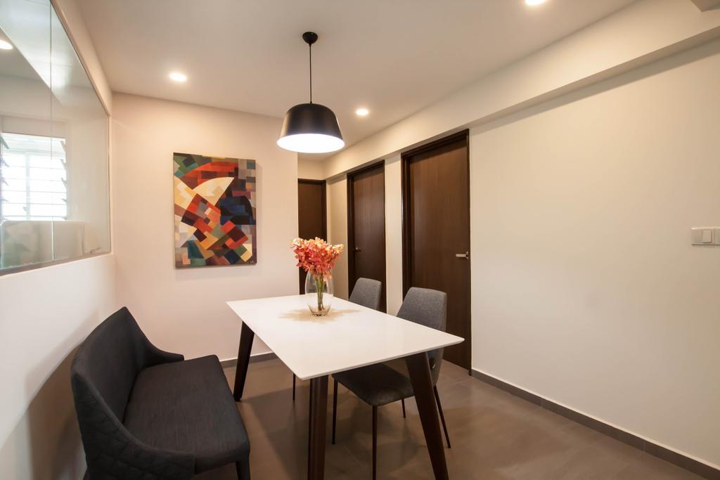 Contemporary, HDB, Dining Room, Yishun Ring Road, Interior Designer, Space Atelier