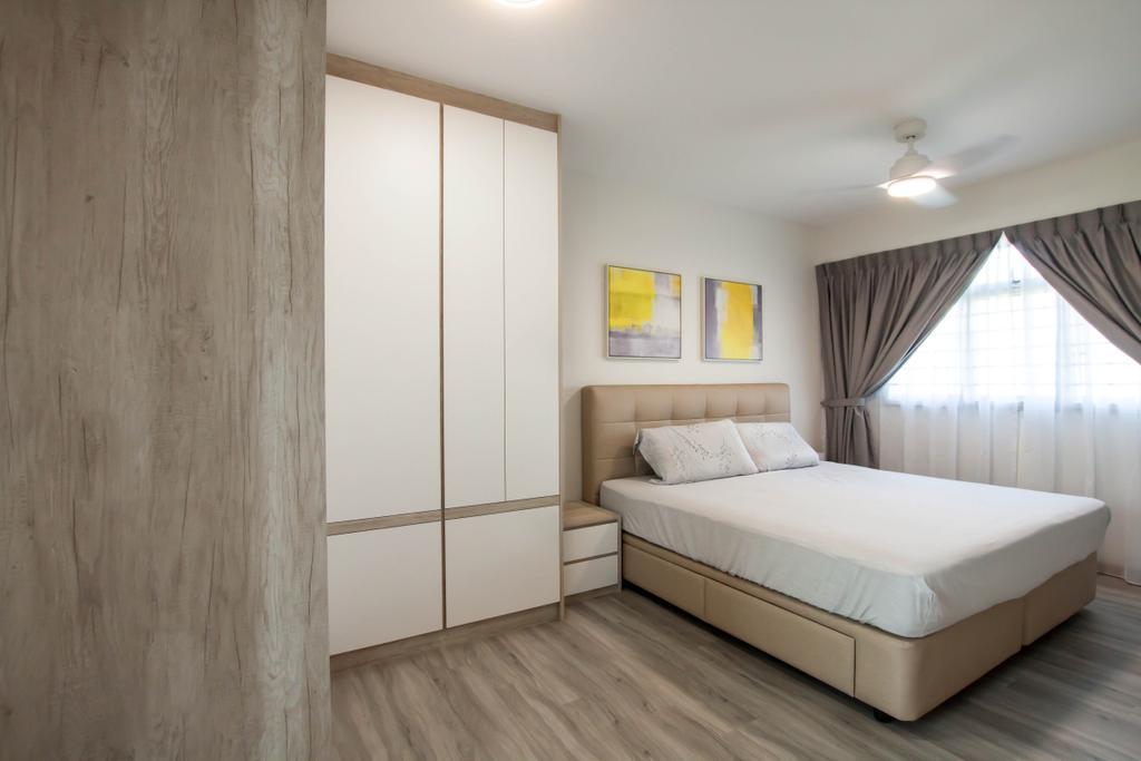 Contemporary, HDB, Bedroom, Yishun Ring Road, Interior Designer, Space Atelier