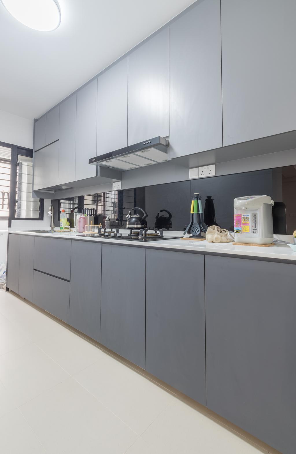 Contemporary, HDB, Kitchen, Buangkok Crescent, Interior Designer, Space Atelier