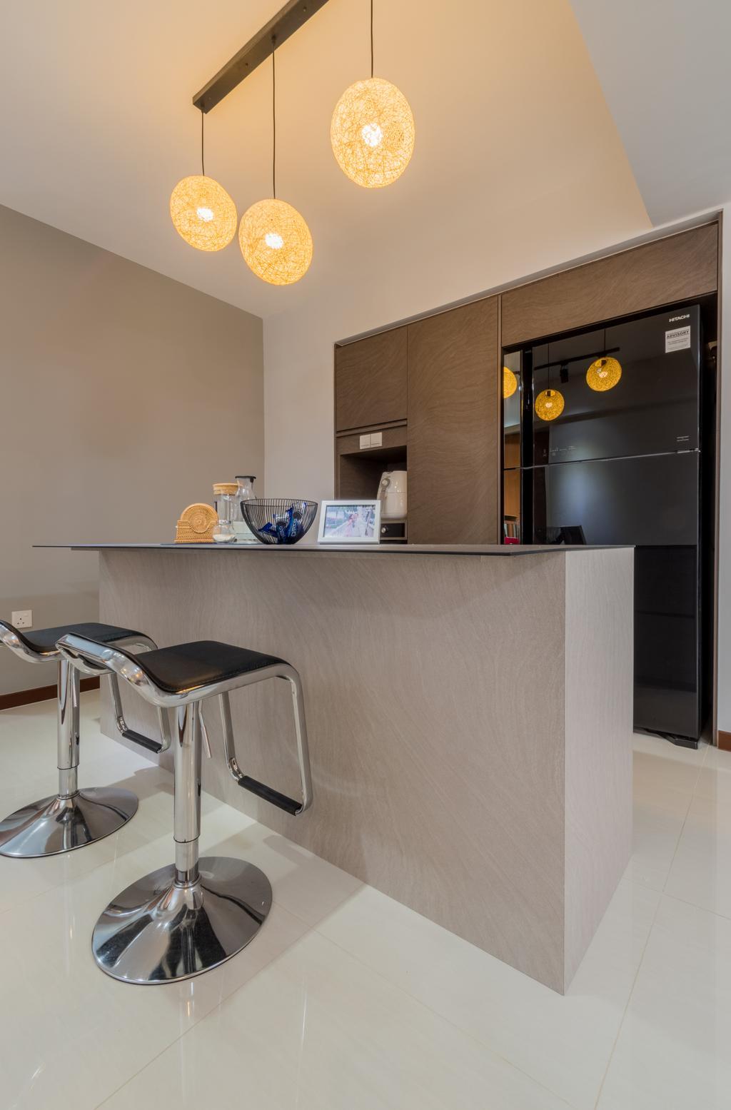 Contemporary, HDB, Dining Room, Buangkok Crescent, Interior Designer, Space Atelier
