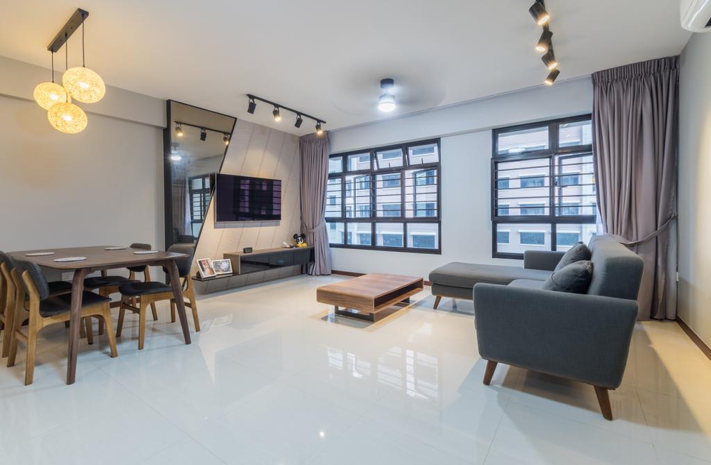 Contemporary, HDB, Living Room, Buangkok Crescent, Interior Designer, Space Atelier