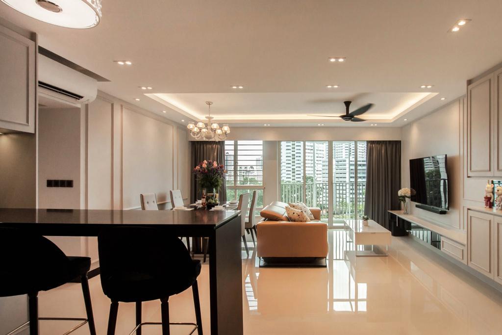 Contemporary, HDB, Dining Room, Bukit Batok (Block 296C), Interior Designer, Space Atelier