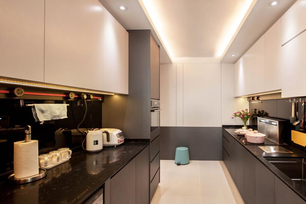 Contemporary, HDB, Kitchen, Bukit Batok (Block 296C), Interior Designer, Space Atelier