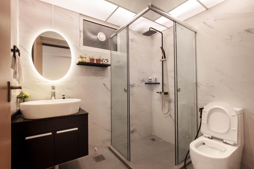 Contemporary, HDB, Bathroom, Bukit Batok (Block 296C), Interior Designer, Space Atelier