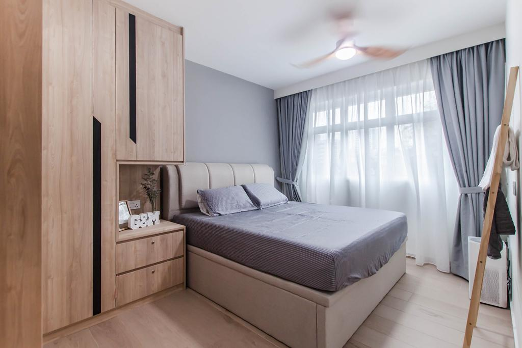 Contemporary, HDB, Bedroom, Bukit Batok (Block 450B), Interior Designer, Space Atelier