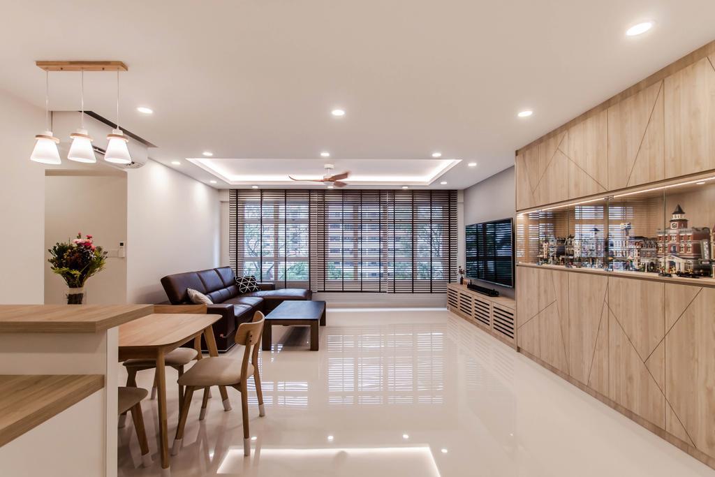 Contemporary, HDB, Living Room, Bukit Batok (Block 450B), Interior Designer, Space Atelier