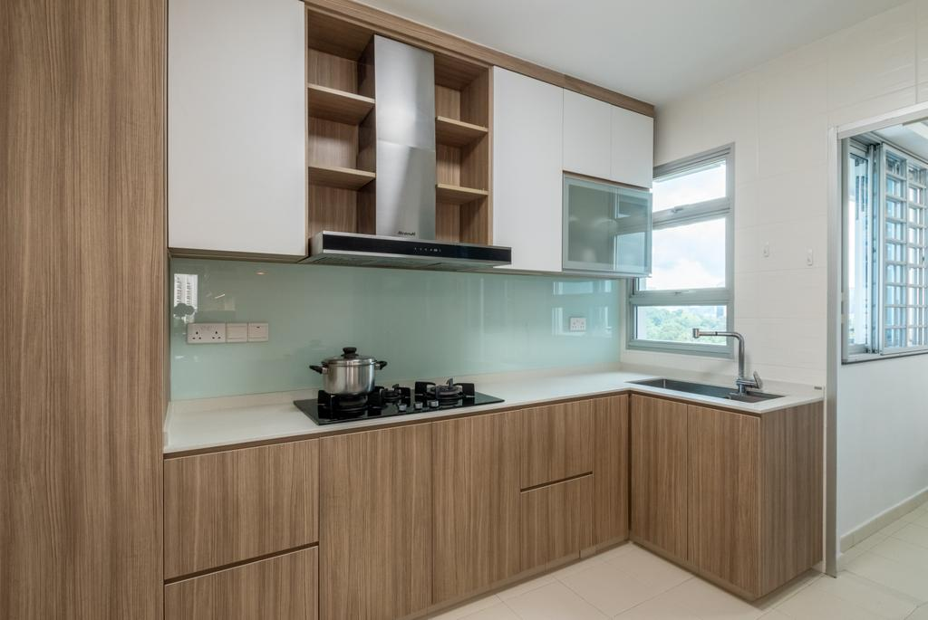 Contemporary, HDB, Kitchen, Commonwealth Drive, Interior Designer, Space Atelier