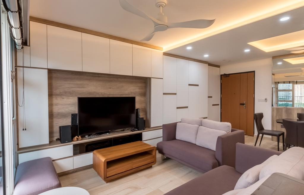 Contemporary, HDB, Living Room, Commonwealth Drive, Interior Designer, Space Atelier