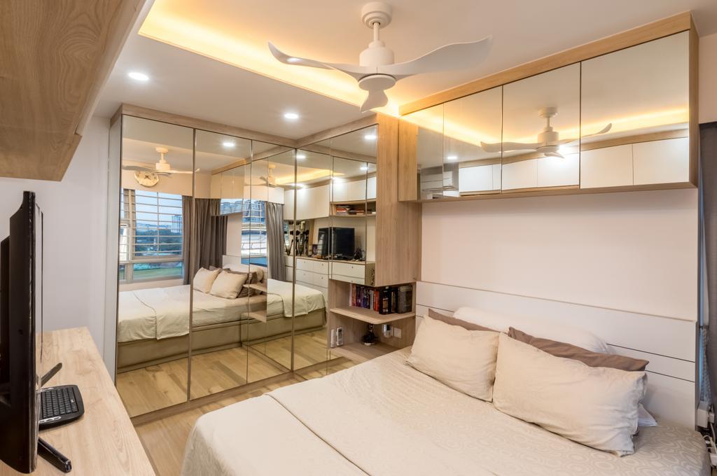 Contemporary, HDB, Bedroom, Commonwealth Drive, Interior Designer, Space Atelier