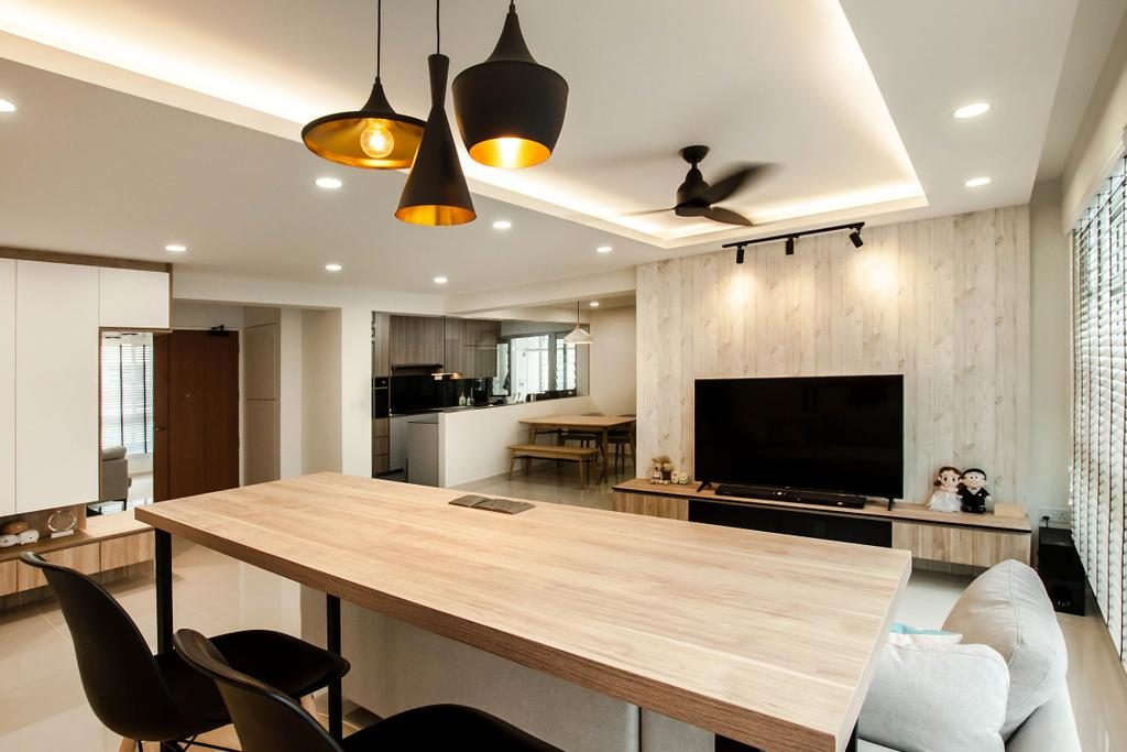 Contemporary, HDB, Living Room, Sumang Lane, Interior Designer, Space Atelier