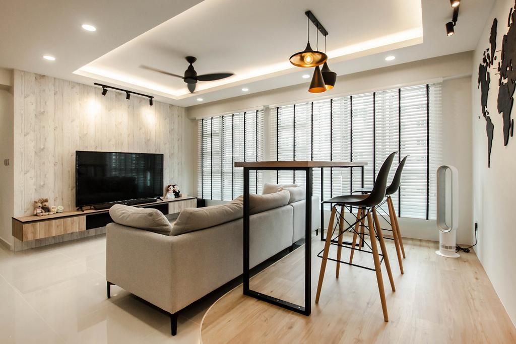 Contemporary, HDB, Dining Room, Sumang Lane, Interior Designer, Space Atelier
