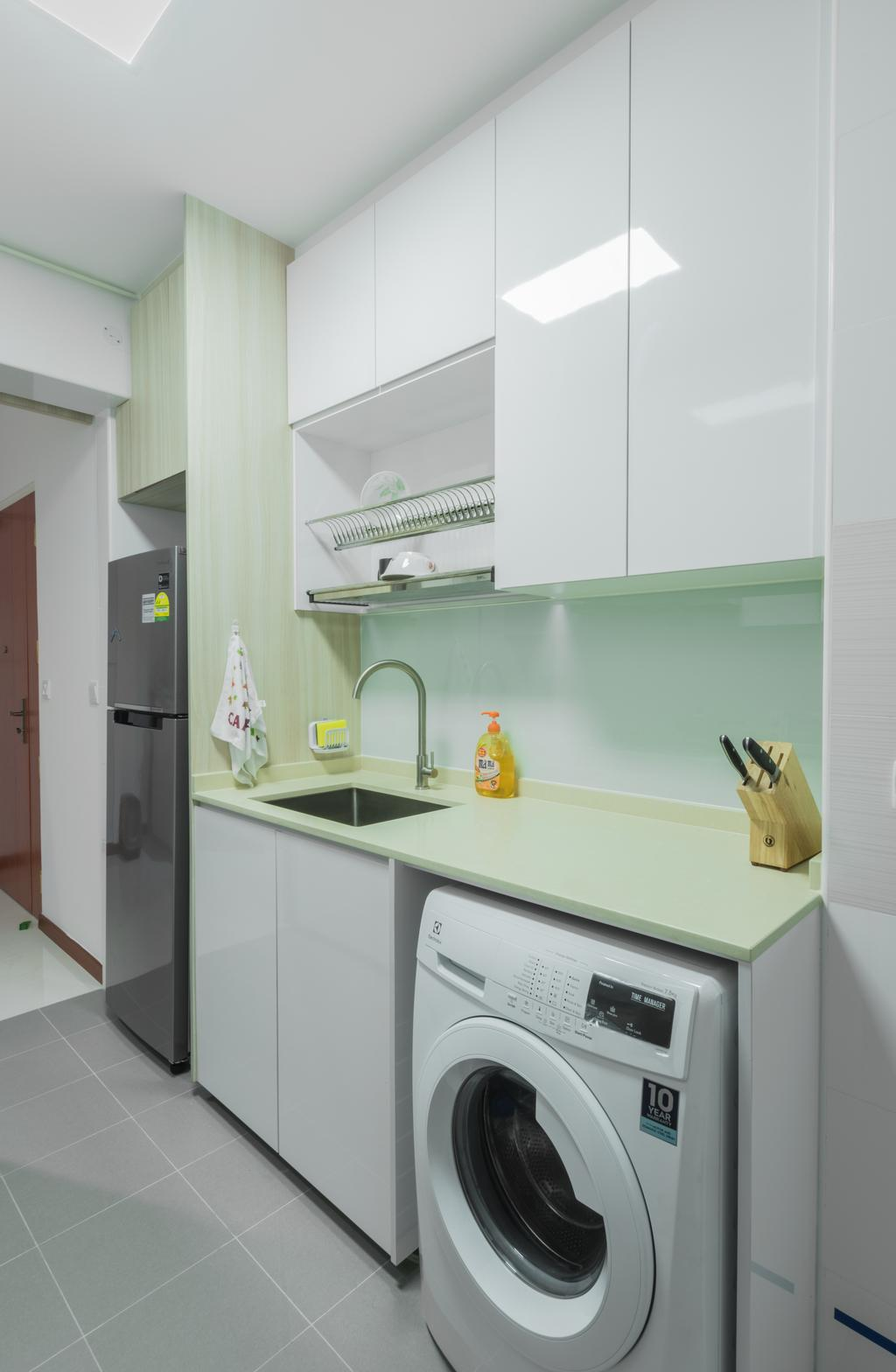 Scandinavian, HDB, Kitchen, Yishun Fern Grove, Interior Designer, Space Atelier