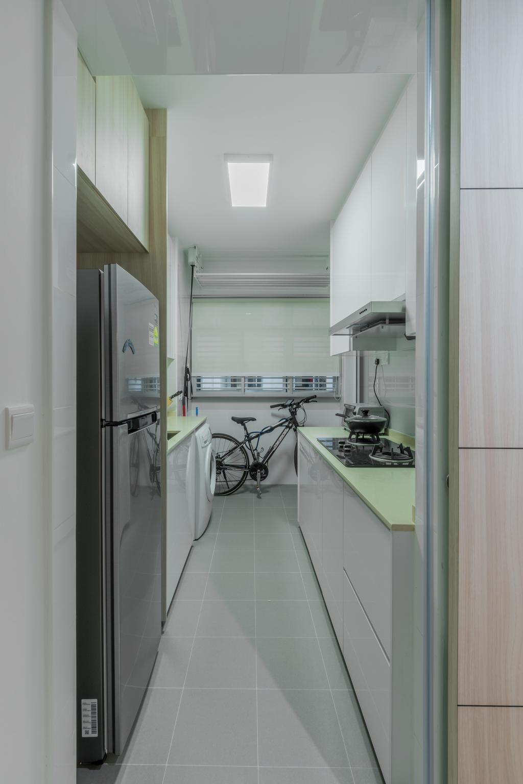 Scandinavian, HDB, Kitchen, Yishun Fern Grove, Interior Designer, Space Atelier