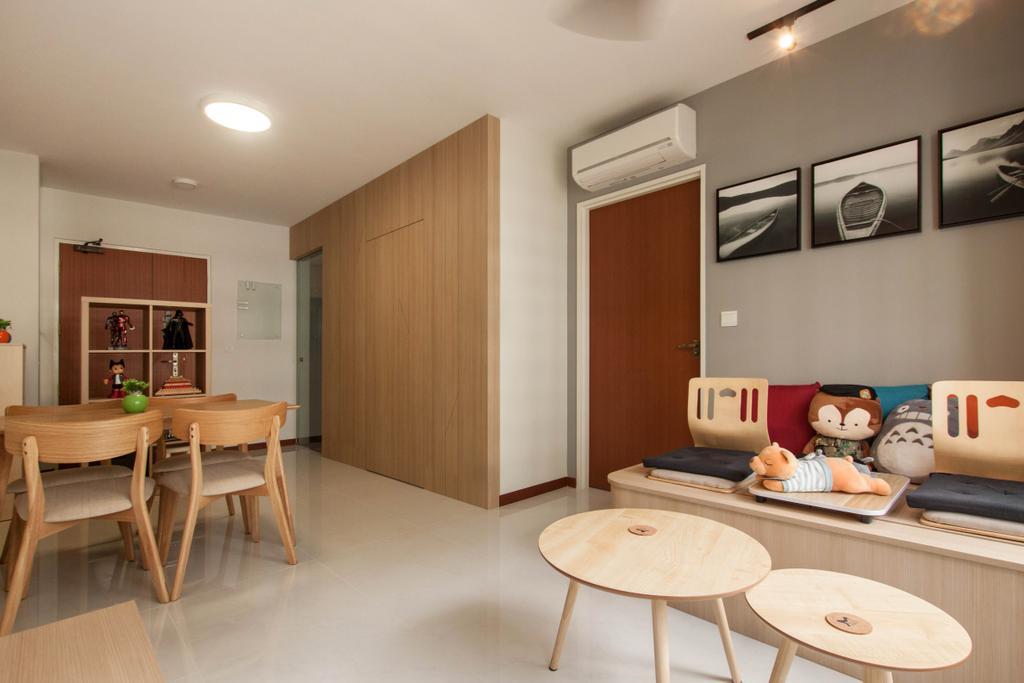Contemporary, HDB, Living Room, Yishun Avenue 4, Interior Designer, Space Atelier