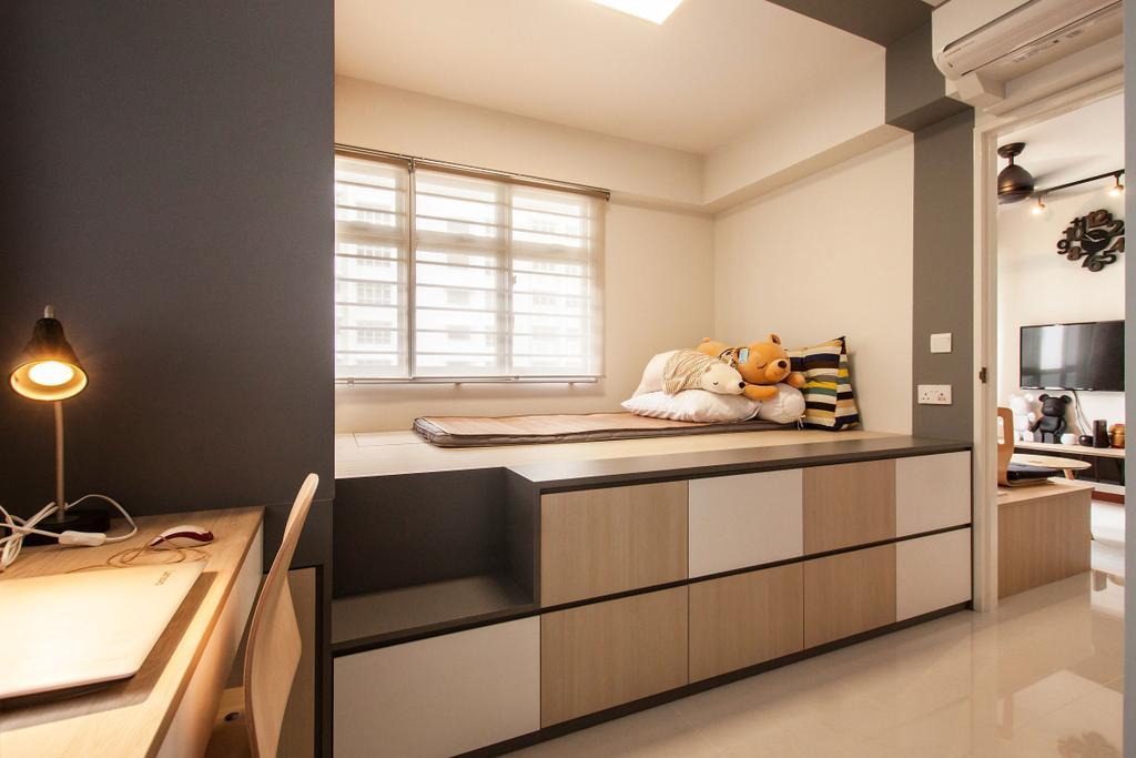 Contemporary, HDB, Bedroom, Yishun Avenue 4, Interior Designer, Space Atelier