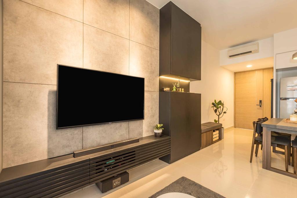 Contemporary, Condo, Living Room, Coco Palms, Interior Designer, Swiss Interior Design
