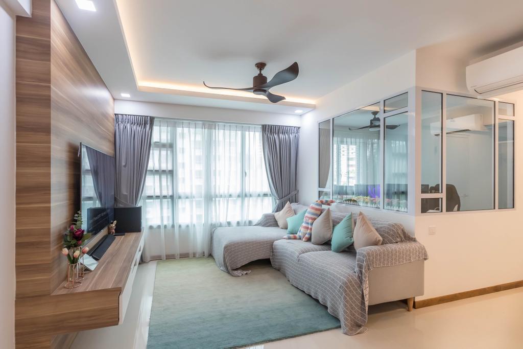 Contemporary, HDB, Living Room, Telok Blangah Street 31, Interior Designer, Swiss Interior Design