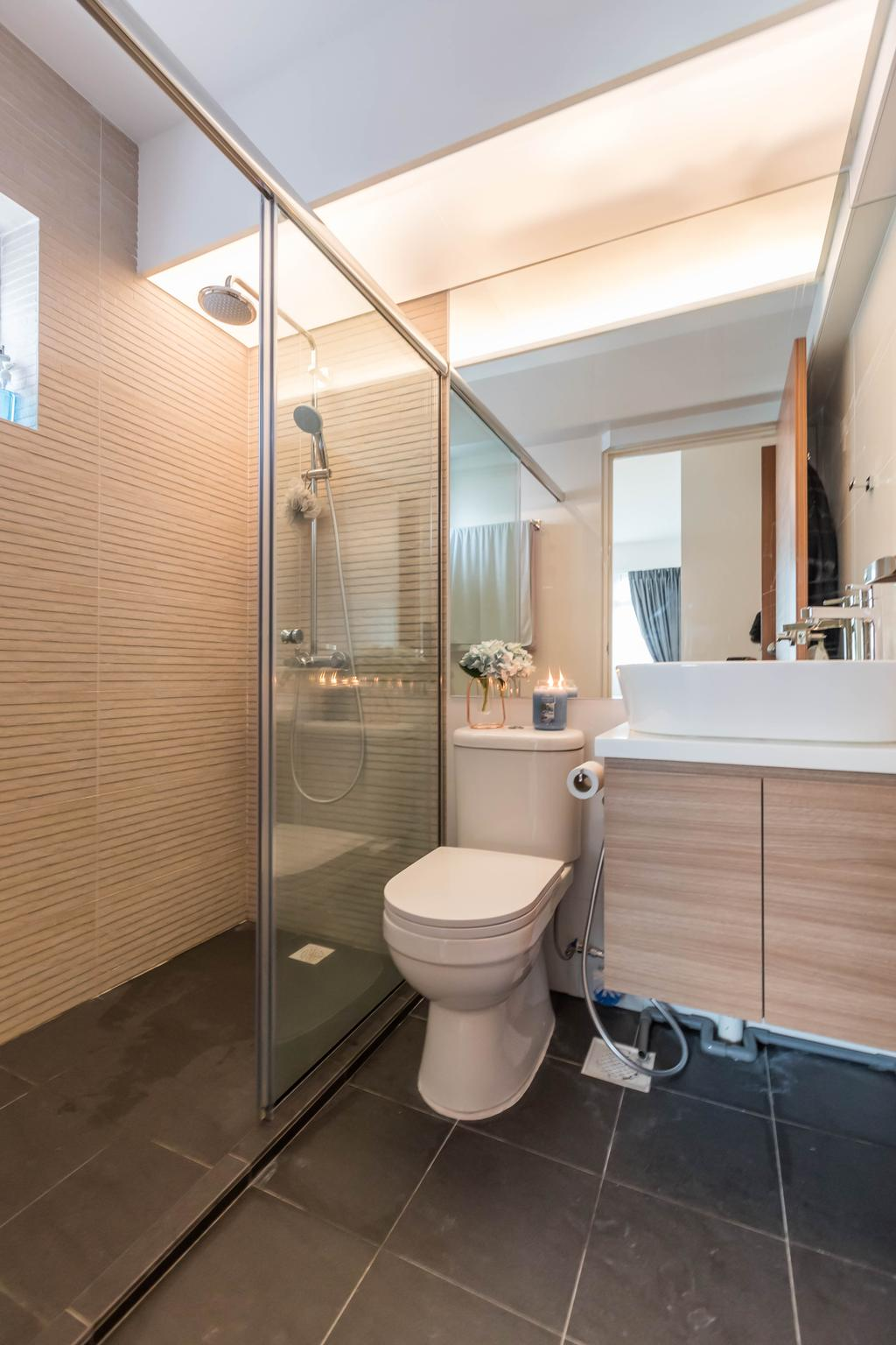 Contemporary, HDB, Bathroom, Telok Blangah Street 31, Interior Designer, Swiss Interior Design
