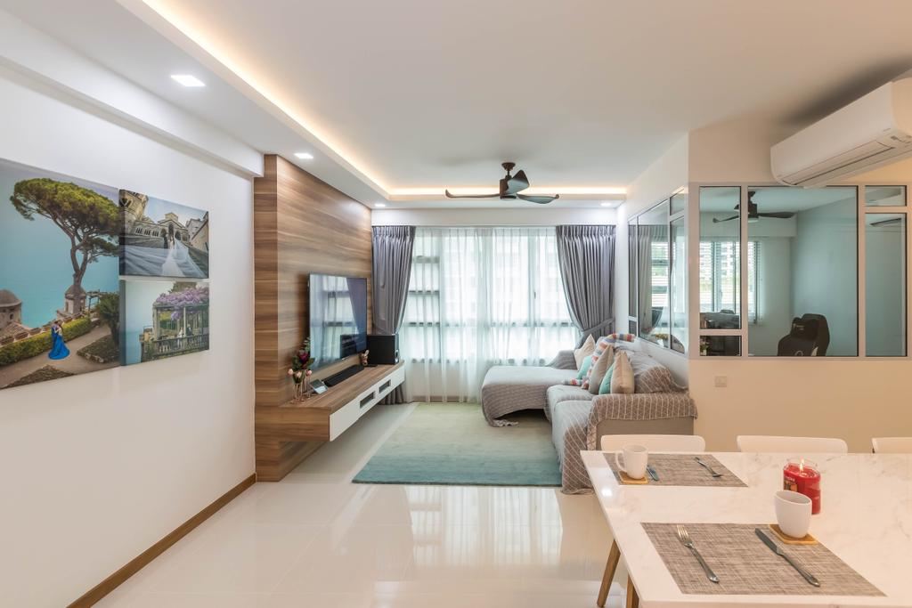 Contemporary, HDB, Living Room, Telok Blangah Street 31, Interior Designer, Swiss Interior Design