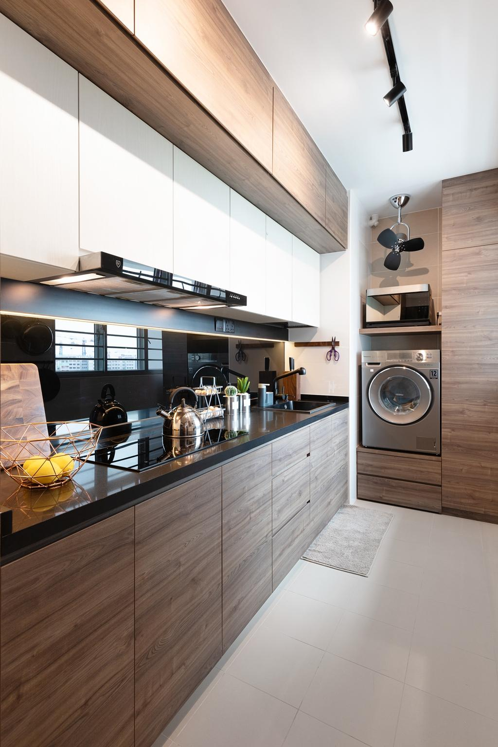 Contemporary, HDB, Kitchen, Bukit Batok Avenue 6, Interior Designer, The Makers Design Studio