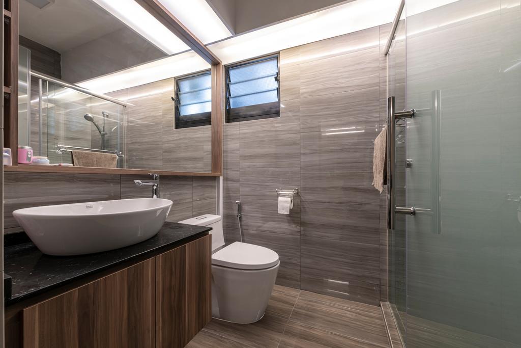 Contemporary, HDB, Bathroom, Buangkok Crescent, Interior Designer, Butler Interior